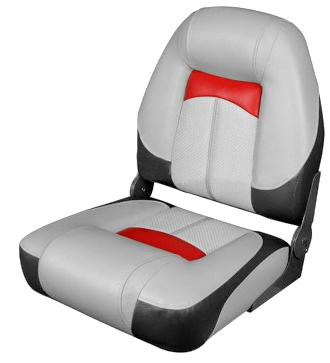 Сиденье в катер Premium High Back Серый/Уголь/Красный