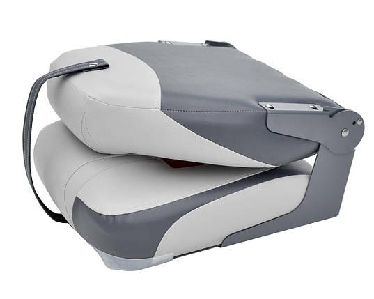 Сиденье в катер Premium High Back Серый/Уголь/Красный, фото 2