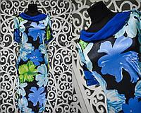 """Нежное женское платье """"Полированный стрейч-коттон"""" 50, 52, 54, 56 размер батал"""