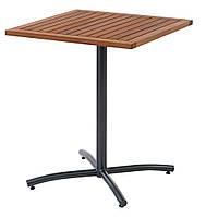 Квадратный садовый столик на одной ножке 62X62 см