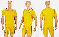 Форма футбольная детская УКРАИНА CO-1006-UKR-12Y (полиэстер, р-р XS-XL, желтый)