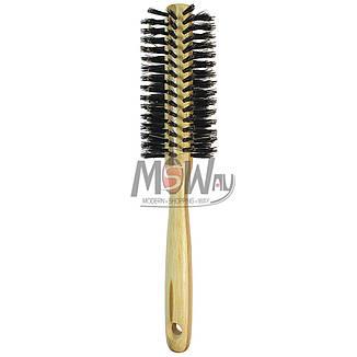Salon Prof. Расческа брашинг 27357 BP (дерево полоски) средняя щетина средне-жесткая, фото 2