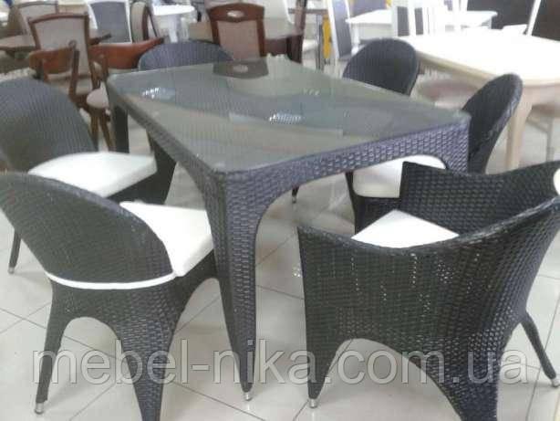 Комплект-стол и стулья из искусственного ротанга
