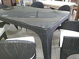 Комплект-стол и стулья из искусственного ротанга, фото 2