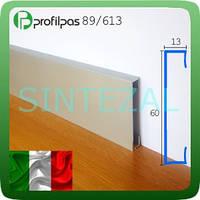 Прямоугольный алюминиевый плинтус Profilpas 89/613