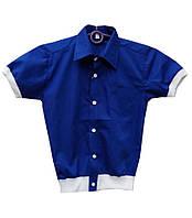 Рубашка на резинке для мальчика в школу.