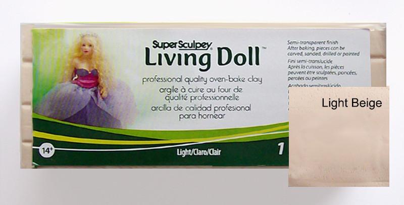 LivingDoll Ливинг Долл, цвет телесный 227 г,пробник SuperSculpey (США)