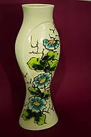 Настольная ваза с росписью золотом Цветы