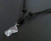 Кулон Хрусталь натуральный камень на кожаном шнурке