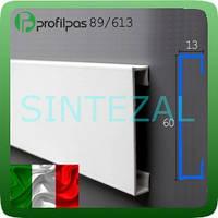 Окрашенный алюминиевый плинтус Profilpas 89/613. Белый