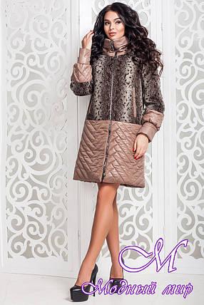 Женское демисезонное пальто большого размера (р. 44-58) арт. 972 Dracena/10+Лаке Тон 10, фото 2