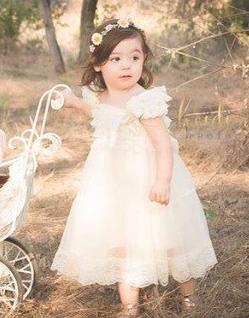 Платье и повязка для девочки из сетки и кружева. Нарядный комплект от года до 5 лет.