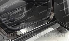 Накладки на пороги Suzuki SX4 2 (накладки порогов Сузуки СХ4 2)