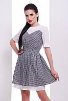 Платье Этно черный с белым