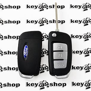 Корпус выкидного ключа для Ford (Форд), 3 ― кнопки, лезвие HU101, (под переделку), фото 2