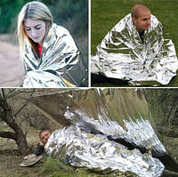 Одеяло спасательное термоодеяло, покрывало из фольги