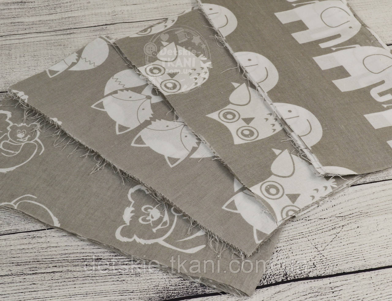 Набор для пэчворка из лоскутов тканей серого цвета №71