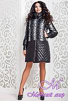 Женское демисезонное пальто черного цвета (р. 44-58) арт. 972 Dracena Тон 1