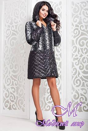 Женское демисезонное пальто черного цвета (р. 44-58) арт. 972 Dracena Тон 1, фото 2