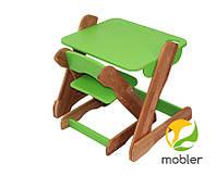 Детский комплект стол и стульчик p101 c101 зеленый (Mobler TM)