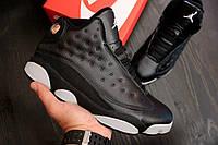 Кроссовки мужские баскетбольные Nike Air Jordan Black/White (найк эир джордан, реплика)