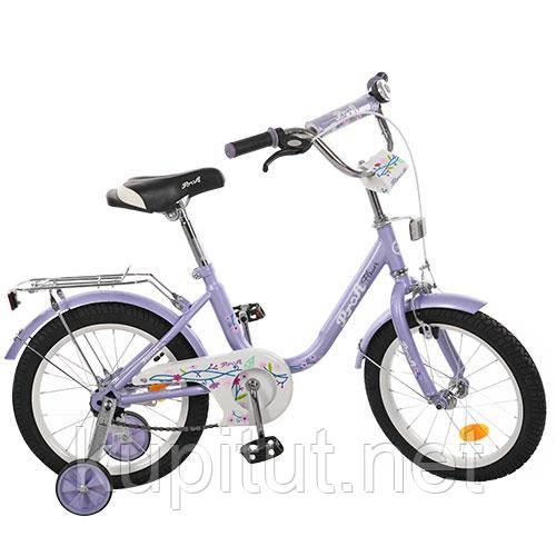 Велосипед детский PROF1 16'' L1683, Flower, фиолетовый