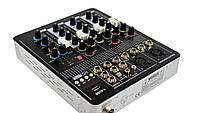 Аудио микшер Mixer BT-4000 4ch.+BT (микшерный пульт)