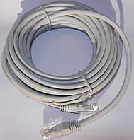 Патч-корд литой Logicpower RJ45 5m (серый)