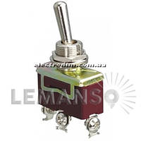 Тумблер Lemanso LSW22 3pin + винты 2 полож. ON-ON / KN3 C-102