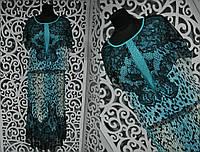 """Красивое женское платье с накидкой """"шифон на подкладке"""" 50, 52, 54 размер баталы"""
