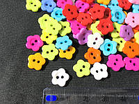 Пуговицы цветыпластиковые 11х10 мм микс