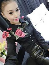 Блузка вышитые цветы пиона, фото 2