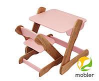 Детский комплект стол и стульчик p101 c101 розовый (Mobler TM)