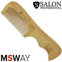 Salon Prof. Гребень дерево средне-зубый с ручкой 32790, фото 2
