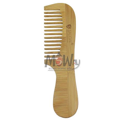 Salon Prof. Гребень дерево широко-зубый с ручкой 32787, фото 2