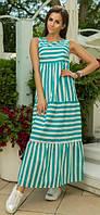Длинное платье в полоску - MM238
