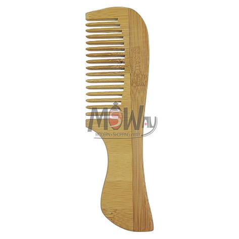 Salon Prof. Гребень дерево широко-зубый с ручкой 40403, фото 2