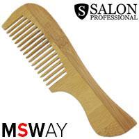 Salon Prof. Гребень дерево широко-зубый с ручкой 40403