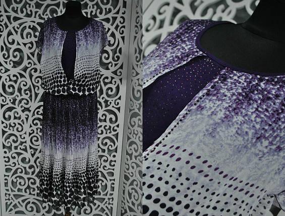 """Приятное женское платье с накидкой """"шифон на подкладке"""" 50, 52, 56, 58 размер баталы, фото 2"""