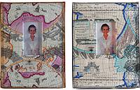 Детский фотоальбом из эко кожи с пластиковыми листами, Карта