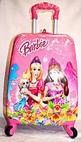 Детскийй дорожный чемодан на четыре колеса Barbie