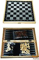 Настольная игра 3 в 1 (нарды, шахматы и шашки)