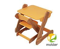Детский комплект стол и стульчик оранжевый (Mobler TM)