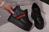 Женские черные сникерсы на платформе Гуччи код 300, фото 1