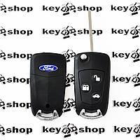 Корпус выкидного ключа для Ford Focus,Fiesta (Форд Фокус, Фиеста), 3 ― кнопки, под переделку, лезвие HU101