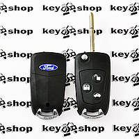 Корпус выкидного ключа для Ford Mondeo (Форд Мондео), 3 - кнопки, под переделку, лезвие FO21