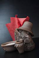 Салфетница из красной глины Домовенок