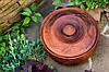 Горшочек с крышкой, красная глина, фото 2