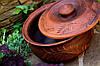 Горшочек с крышкой, красная глина, фото 3