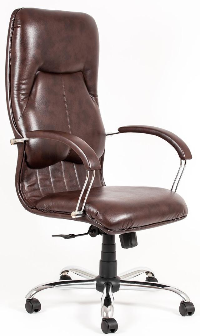 Кресло Никосия Хром коричневый